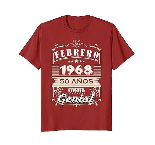 Amazon.com: Febrero 1968 50 Anos Siendo Genial 50th Birthday Spanish: Clothing