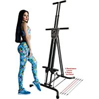 X-Factor Vertical Climber Stepper Climbing Stairs Exercise with 3 Resistance Levels and Monitor holds 300 LB