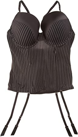 6506985002 After Eden Basque With Satin Black 34D  Amazon.co.uk  Clothing