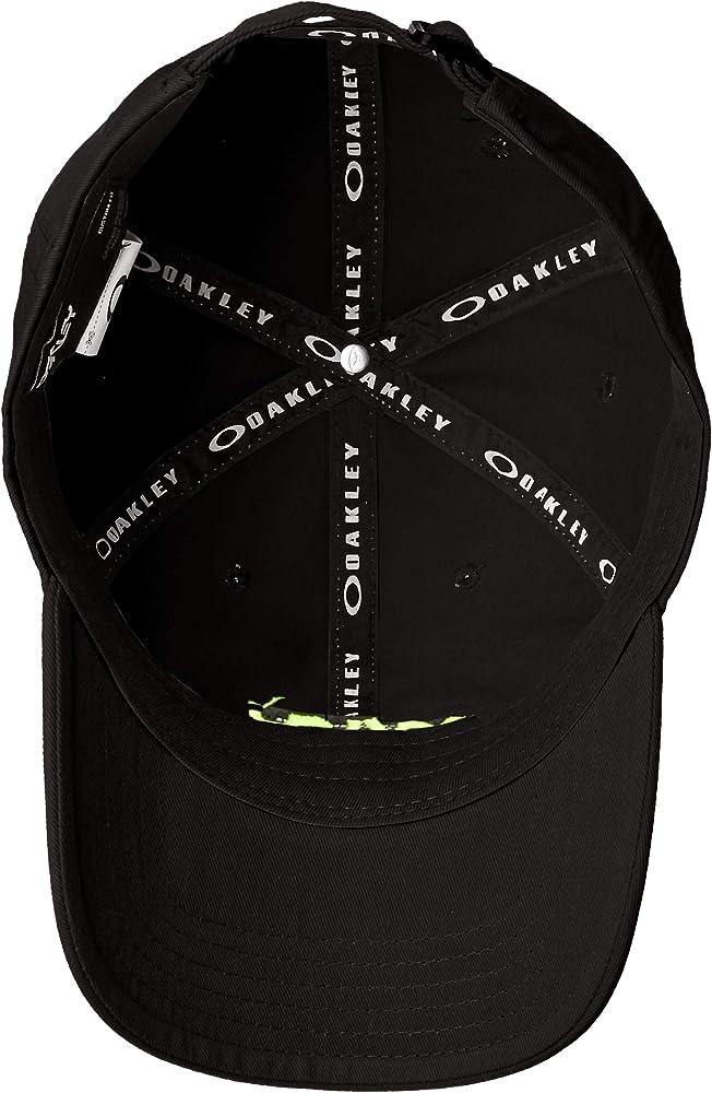 Oakley Gorras Washed Cotton 6 Panel Blackout Black Adjustable ...