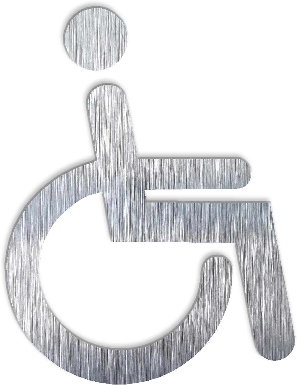 Toilet Disabled decal Wheelchair WC pictogram. Handicap modern restroom signage BSYDESIGN Aluminium Handicap Bathroom sign- Disability plaque- Parking wheelchair symbol