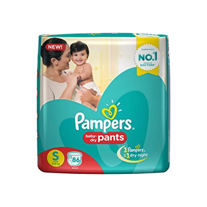 39e7e9cc493 Buy Pampers Small Size Diapers Pants (86 Count) Online at Low Prices in  India - Amazon.in