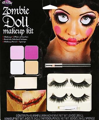 Amazon.com: Fun World - Broken Doll Face Makeup Kit: Health & Personal Care
