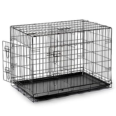SmithBuilt Double Door Folding Metal Dog Crate