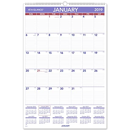 amazon com at a glance 2019 monthly wall calendar 20 x 30