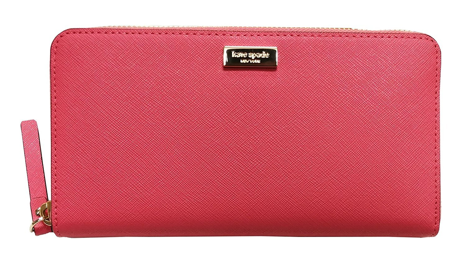 Kate Spade New York Neda Laurel Way Patent Leather Zip Around Wallet Warm Guava by Kate Spade New York
