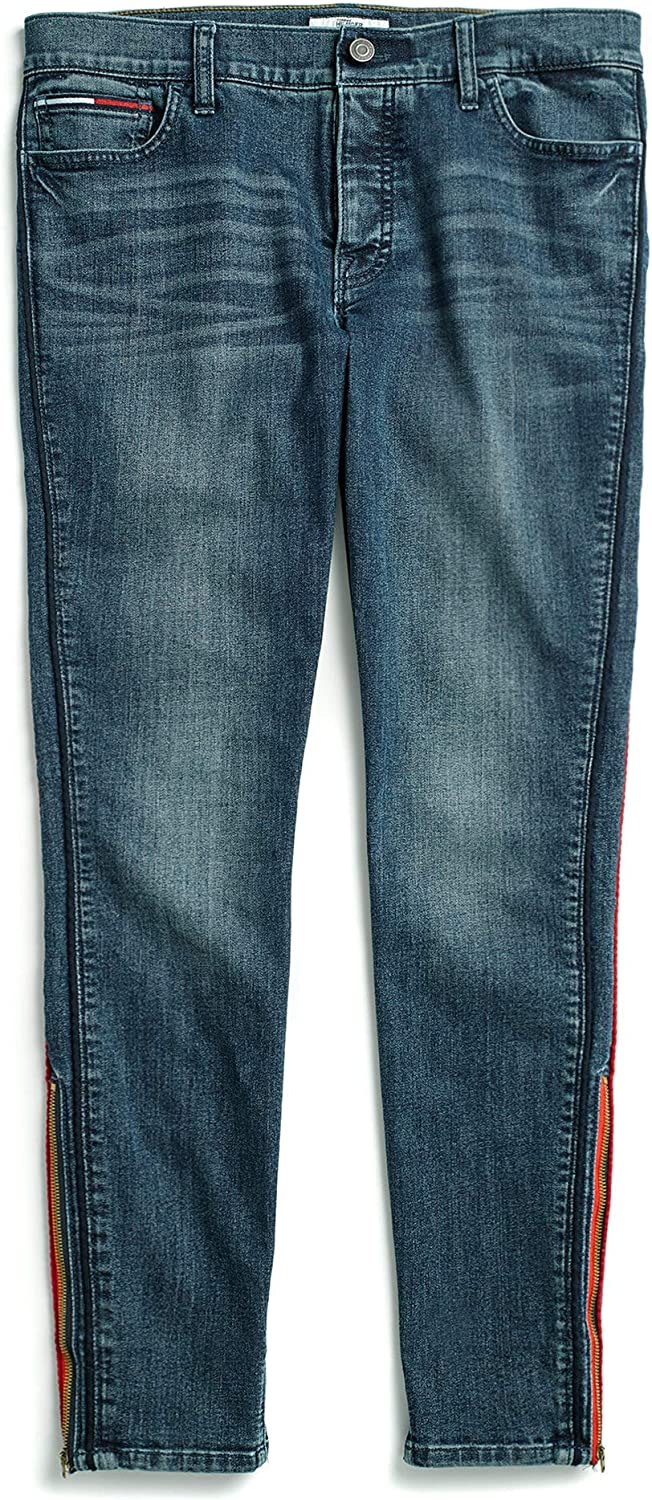 Tommy Hilfiger Women's Adaptive Virginia Beach Mall Jegging Brand with Limited Special Price Velcro Jeans