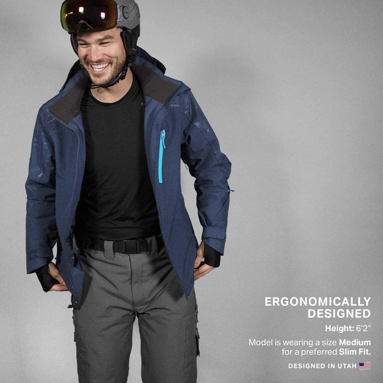 Insulated Waterproof /& Windproof Winter Jackets for Men Wildhorn Dover Premium Mens Ski Jacket