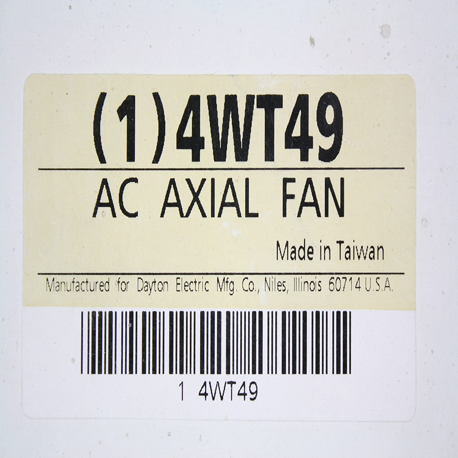 Dayton 4wt49 Fan Axial 55 Cfm 115 V Hvac Controls 115v Ac Electric Motor Wiring Graphic Industrial Scientific