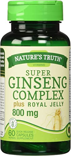 Nature s Truth Ginseng Complex 800 mg Supplement, 60 Count