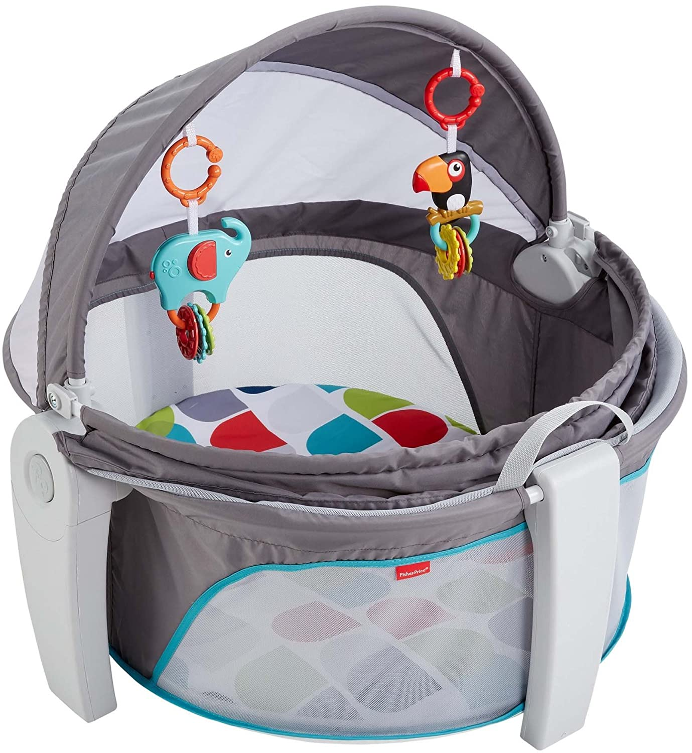 Fisher-Price On-the-Go Baby Dome, Grey/Multi-Color [Amazon Exclusive] FVC26