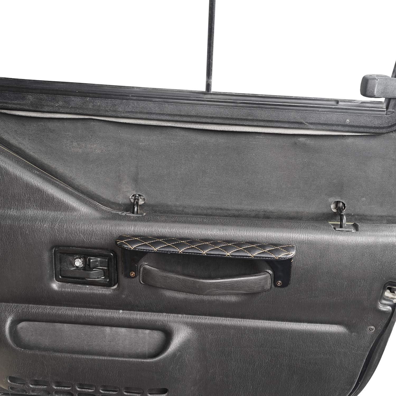 Hooke Road Front Door Arm Rests Kit for Jeep Wrangler TJ 97-06