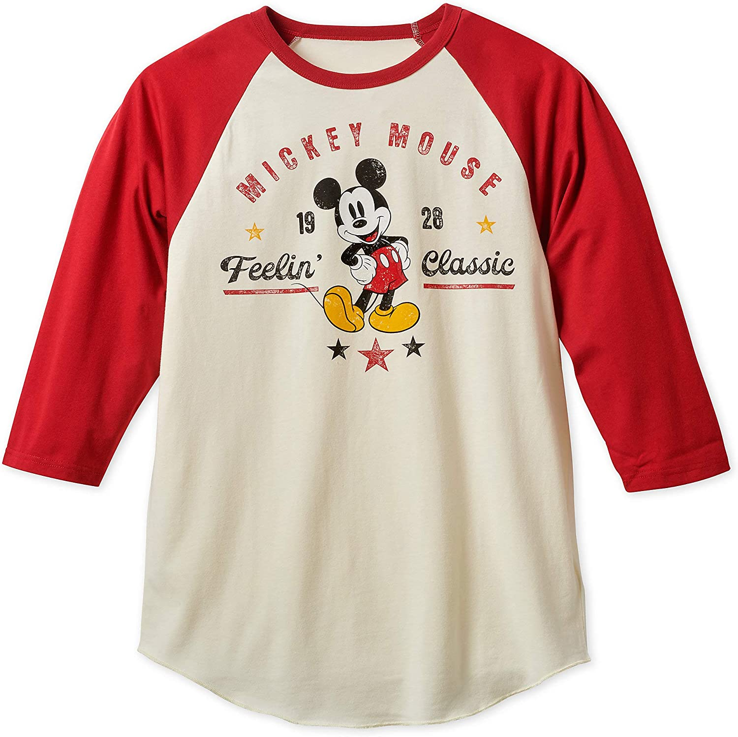Mickey Mouse Front /& Back Women/'s Tee Shirt Red