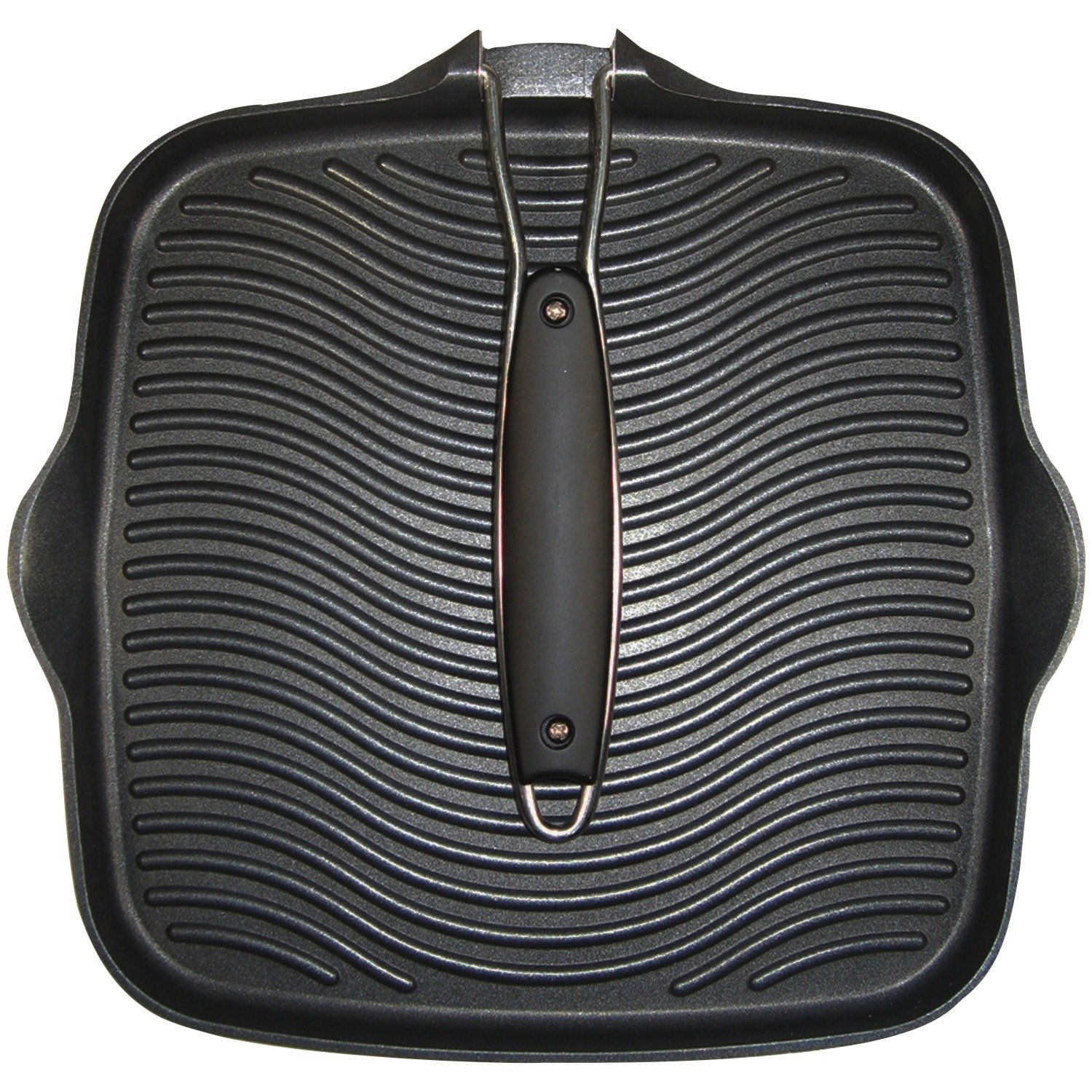Starfrit 030036-006-SPEC 10 Grill Pan with Foldable Handle, Black