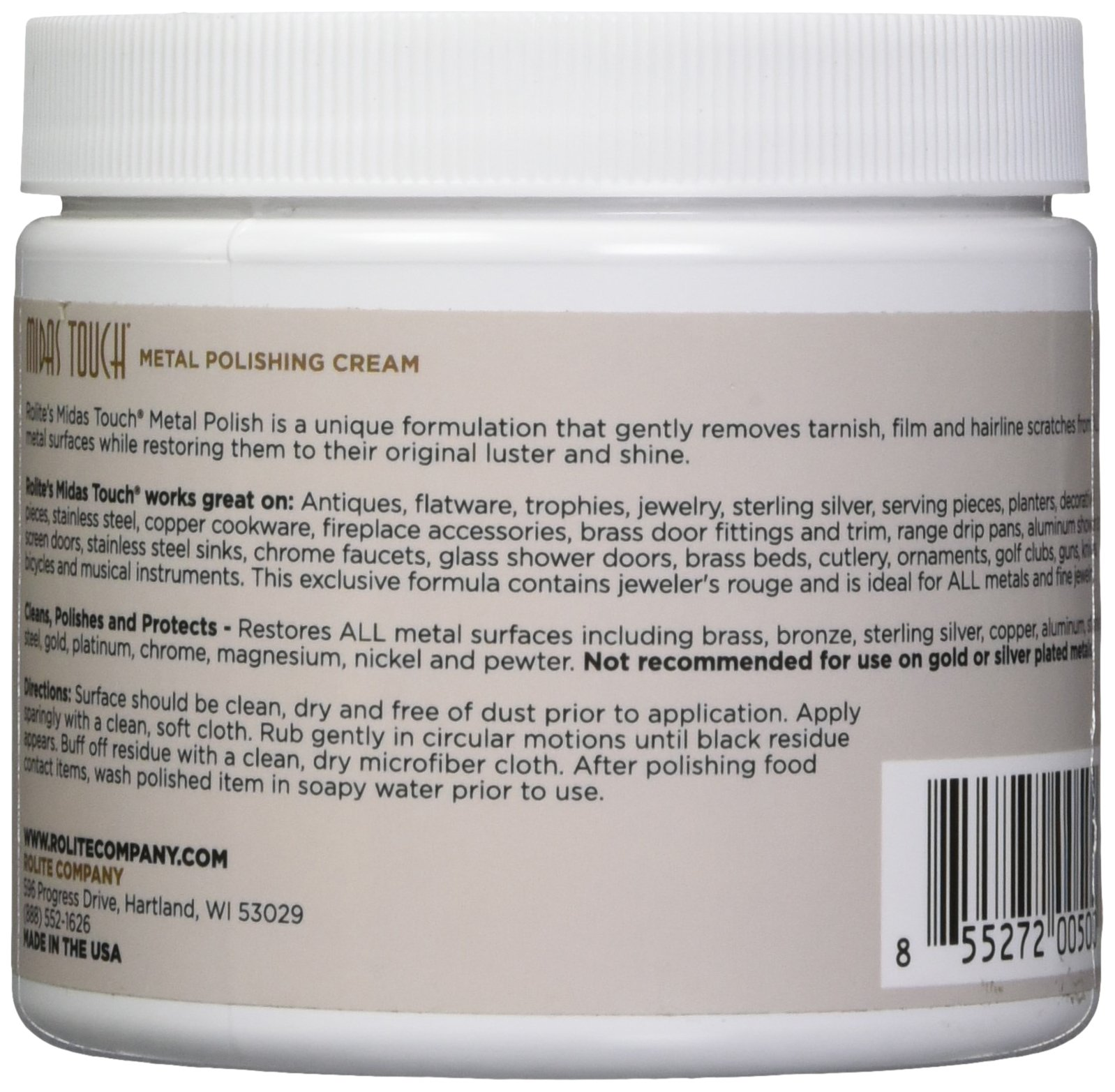 Rolite's Midas Touch Metal Polishing Cream - directions