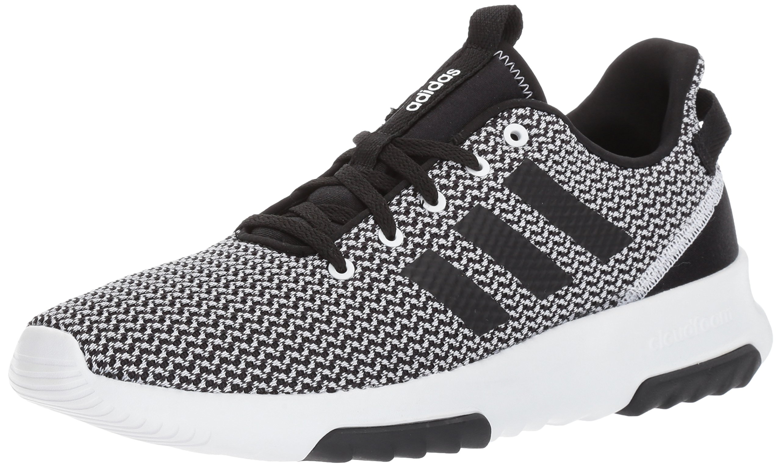 adidas Men's Cloudfoam Racer TR running Shoes, BlackWhite, (12 M US)