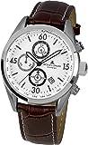 Jacques Lemans Herren-Armbanduhr Analog Quarz Leder 40-6B