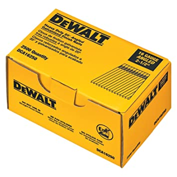 DEWALT DCA16250 2 1/2 Inch By 16 Gauge 20 Degree Finish  2 1 Degree