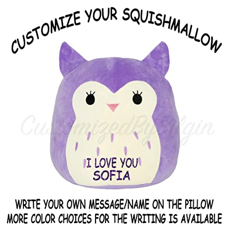 fbf67fba1cc2 Image Unavailable. Image not available for. Color: Squishmallow Customized  Original Kellytoy Holly The ...