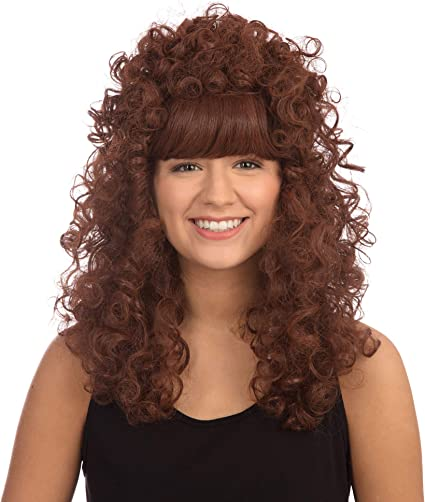 One Size Bristol Novelty BW321 Curly Long Ginger Wig Budget