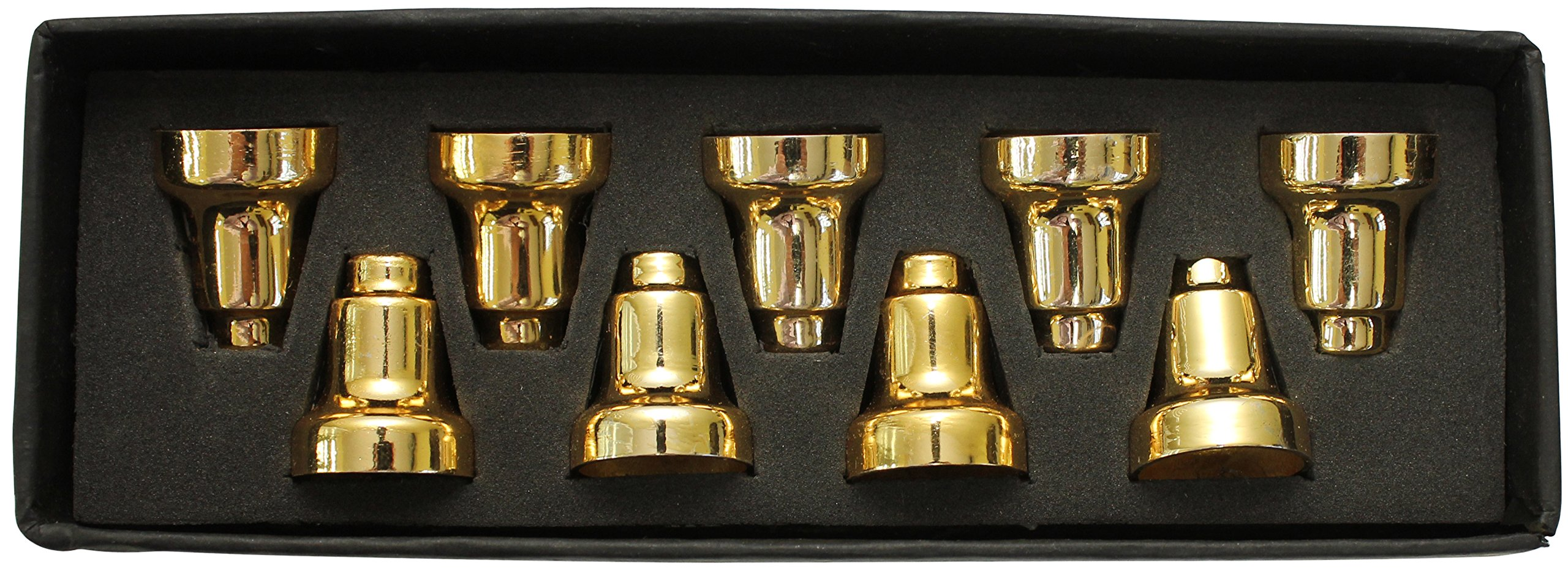 Majestic Giftware MNDC-B 1'' Brass Menorah Drip Cups Candelabra by Majestic Giftware