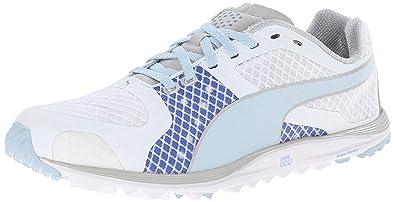 PUMA Women's Faas Xlite Golf Shoe Spikeless, White/Omphalodes/Ultramarine,  ...