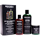 Brickell Men's Daily Advanced Face Care Routine II, Activated Charcoal Facial Cleanser, Face Scrub, Face Moisturizer Lotion,