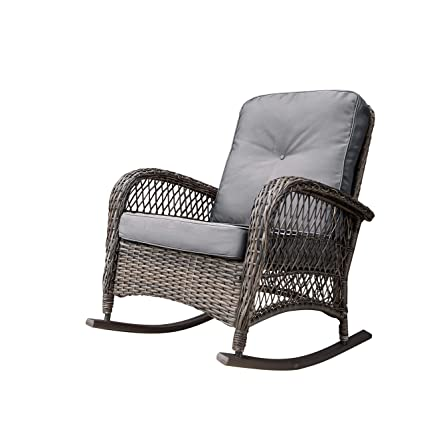 newest d0abb 15826 Amazon.com : Corvus Salerno Outdoor Wicker Rocking Chair ...