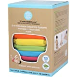 Charlie Banana 6 Reusable Diapers 12 Inserts Set Tutti Frutti, One Size