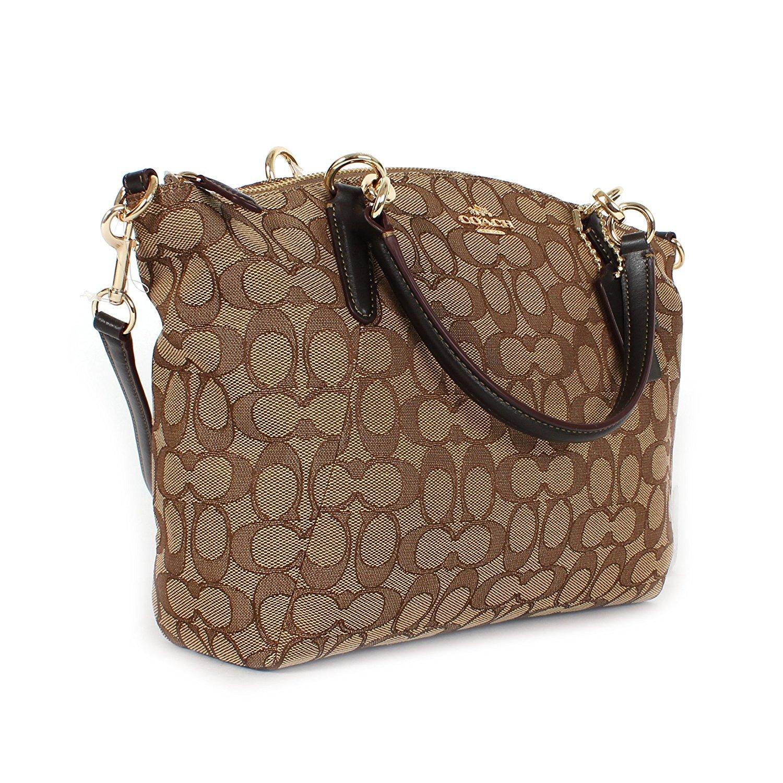 b1d6e6140479b Amazon.com  Coach Signature Small Kelsey Satchel Shoulder Bag Handbag