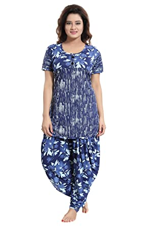 ba020bb2bd TUCUTE Top and Dhoti Style Bottom Night Suit Nighty Nightdress Night Gown  for