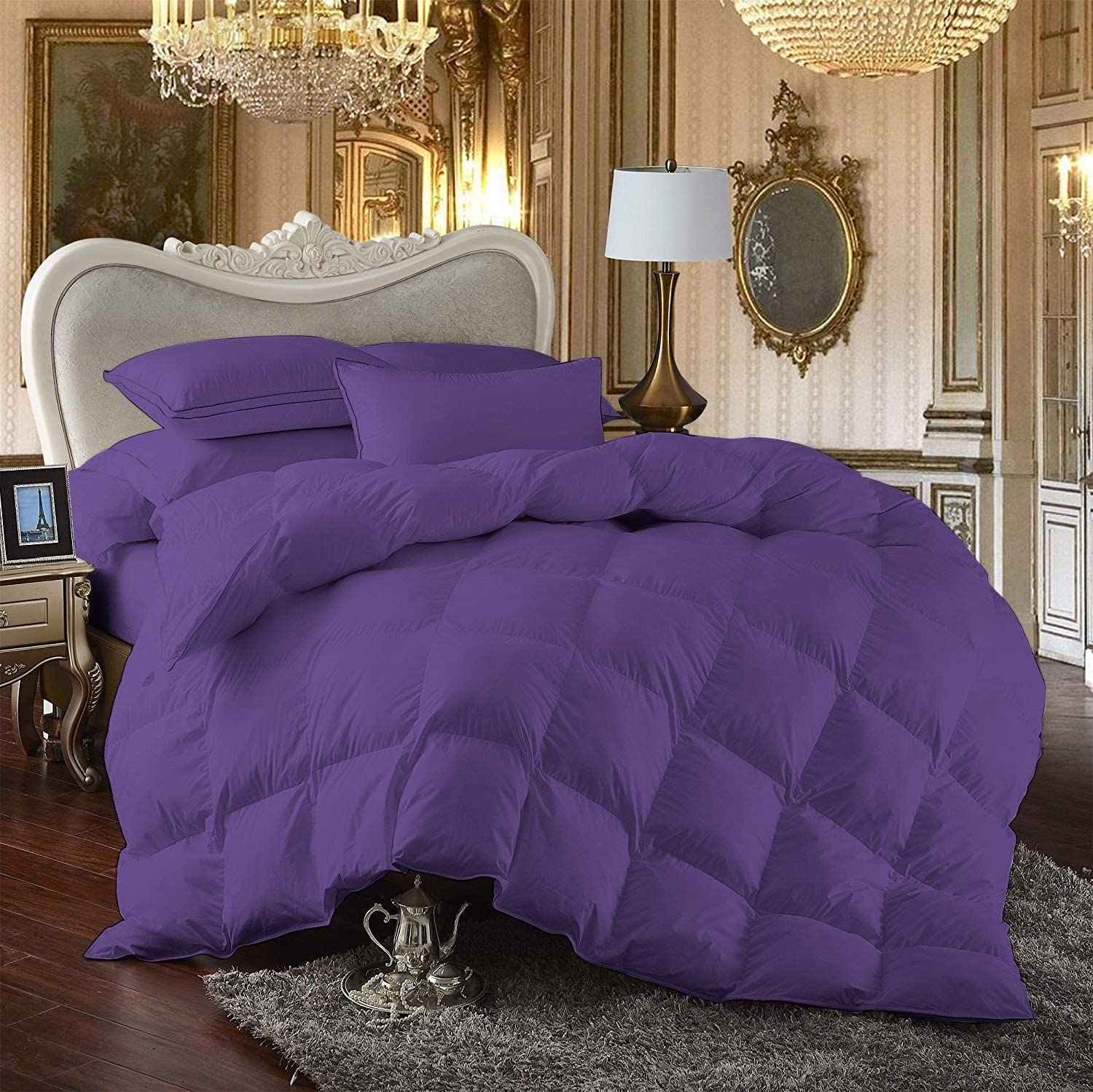 All Size /& Comfort Bedding Items Purple Solid 1000 Thread Count Egyptian Cotton