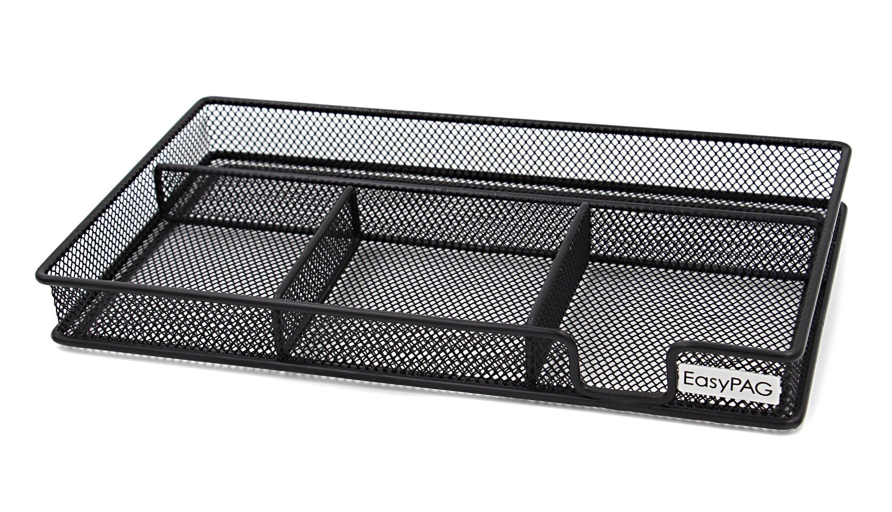 EasyPAG Mesh Collection Desk Accessories Drawer Organizer,11.5 x 6.25 x 1.25 inch Black
