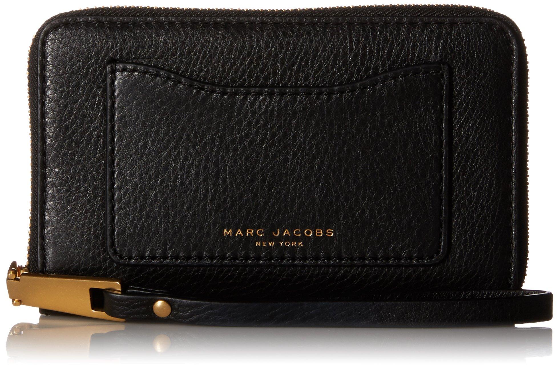 Marc Jacobs Recruit Zip Phone Wristlet, Black