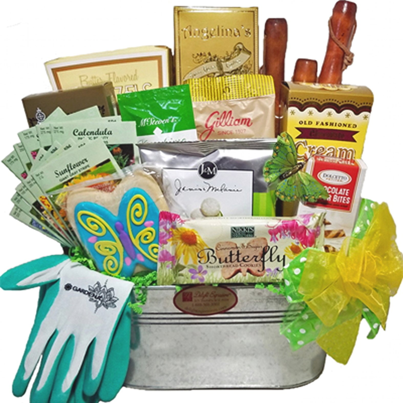 Delight Expressions Garden Tools and Goods - A Mother's Day Gift Basket - Birthday or Get Well Gift