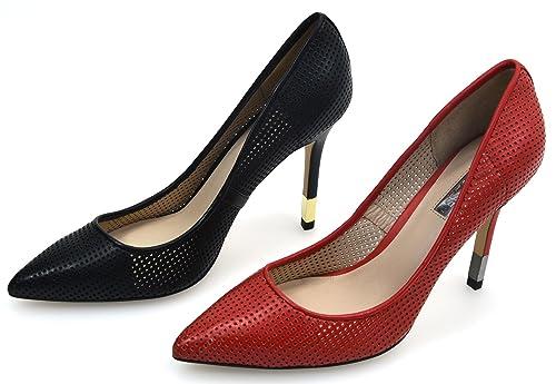 Amazon es Guess De Highheels Stilettos Negro Zapatos Salón UwTq7wYO