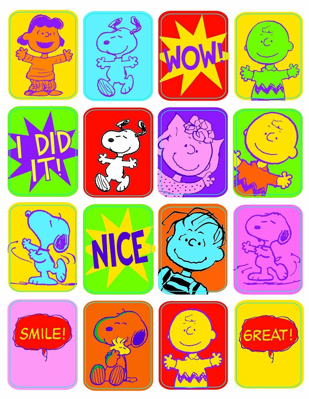 Paper Magic 822000 Eureka Peanuts Motivational Stickers, 32 Per Pack