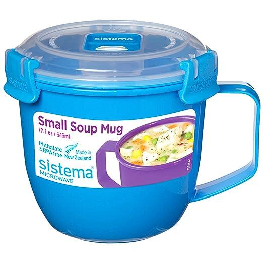 Sistema - fiambrera para microondas, plástico, Colores variados, 565 ml