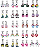 20 Pairs Aassorted Clip on Earrings for Girls - Cute Animal Clipon Earrings for Little Girls - Colorful Flower Clip-on Earrings for Teens Girls