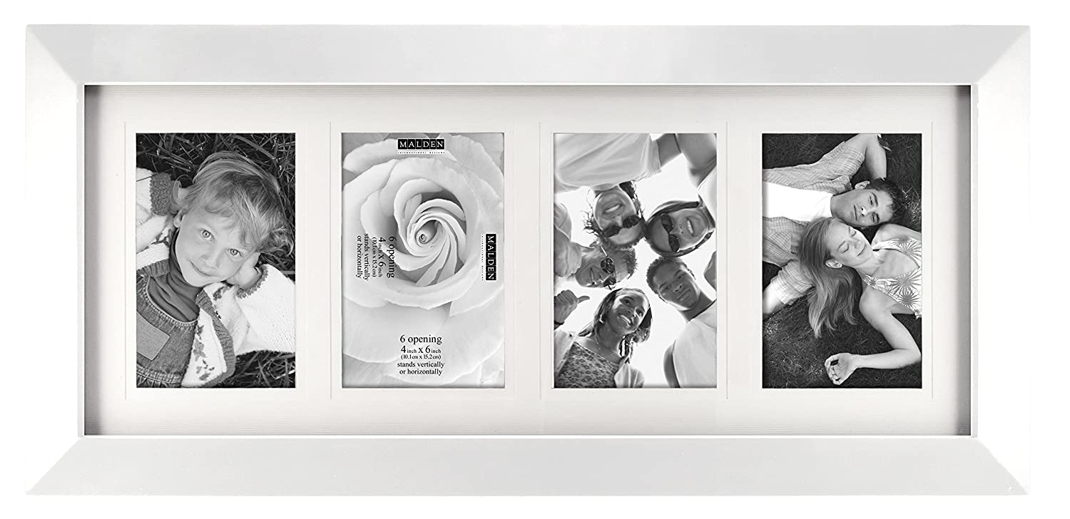 Amazon.com: Malden 4x6 6-Opening Collage Matted Picture Frame ...