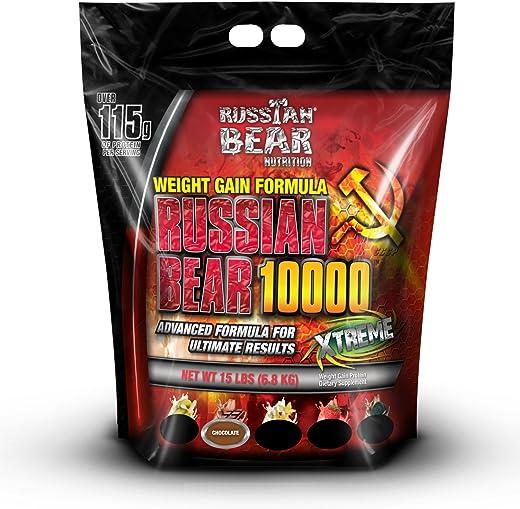 RUSSIAN BEAR 10000 Weight Gainer Bag Chocolate, 15 lb