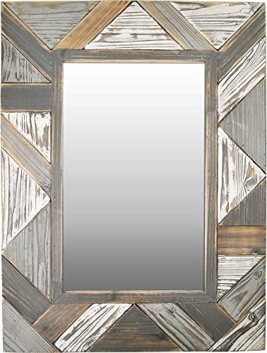 FirsTime Co. Silas Salvaged Planks Mirror