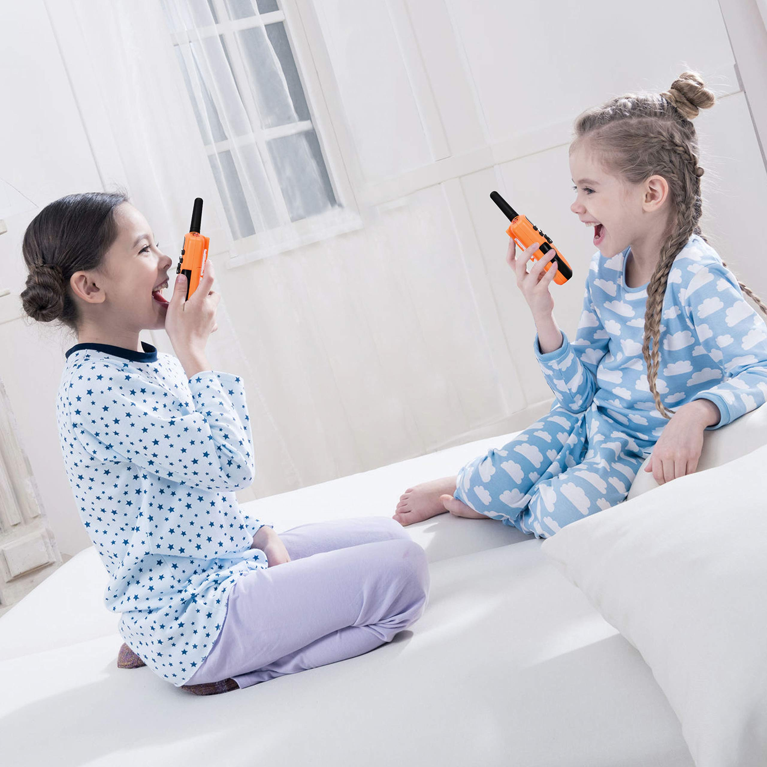 Walkie Talkies for Kids - (Vox Box) Voice Activated Walkie Talkies Toy for Kids, Two Way Radios Pair for Boys & Girls, Limited Edition Color Best Gift Long Range 3+ Miles Children's Walkie Talkie Set by MOBIUS Toys (Image #5)