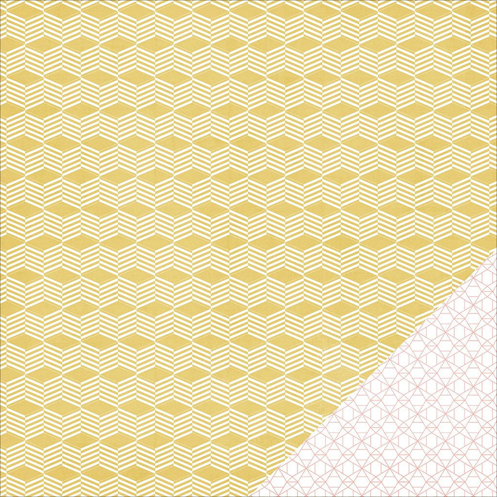 American Crafts 370567 Wanderlust Double, Sided Cardstock, 25 Sheets, 12'' by 12'', Basket Weave