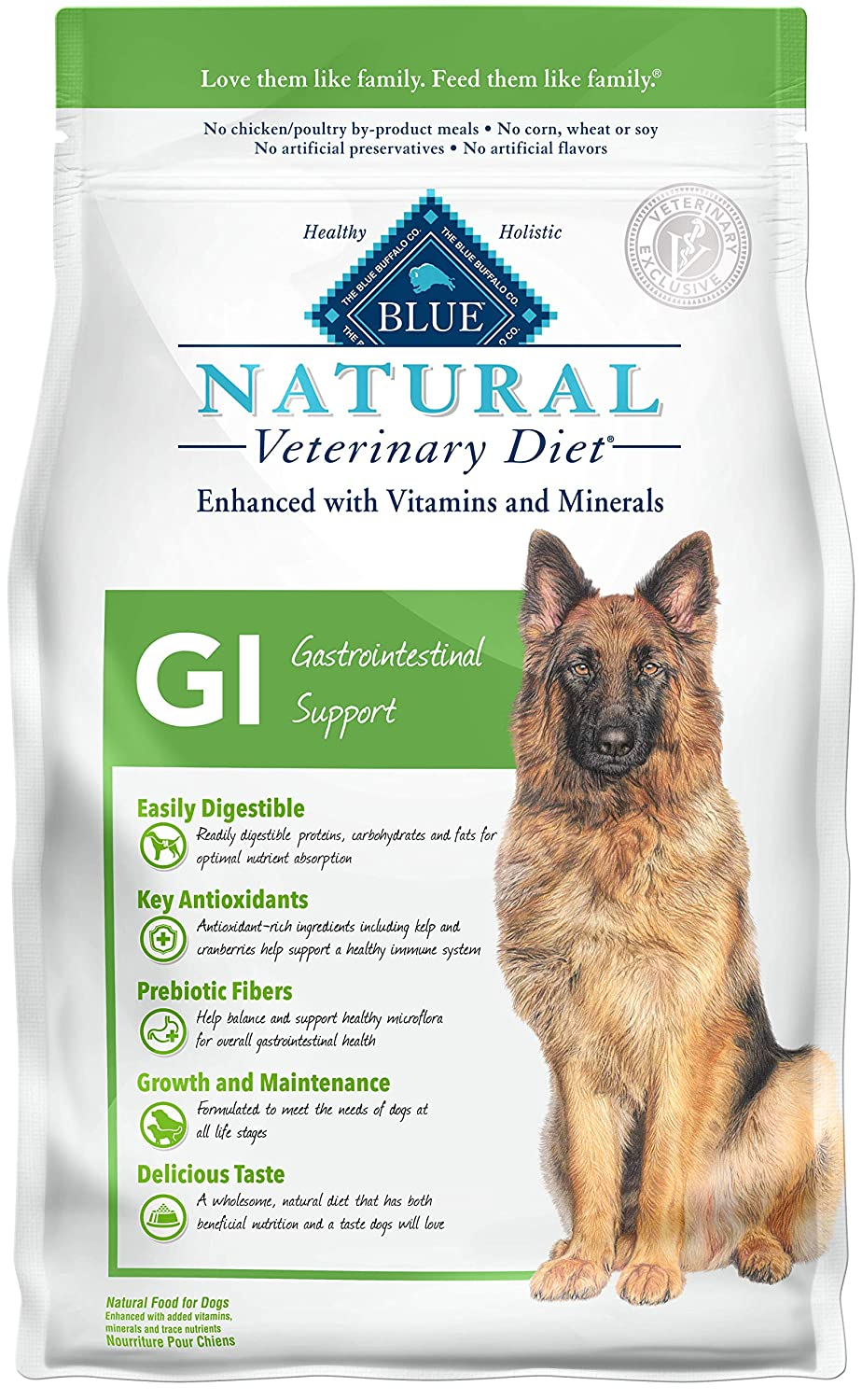 BLUE BUFFALO NATURAL VETERINARY DIET DRY DOG FOOD