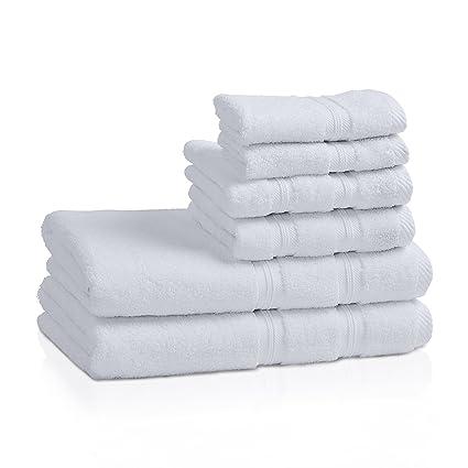 93e2a80d6edf5 Superior 100% Cotton Smart Dry Zero Twist 6-piece towel set, Incredibly Soft