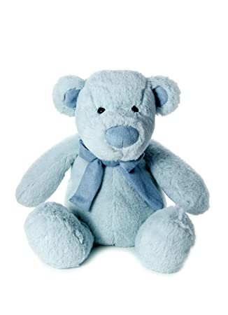 977dd19543a Mousehouse Gifts Teddy Bear Plush Stuffed Toy Super Soft Blue for Newborn  Baby Boy Gift Present