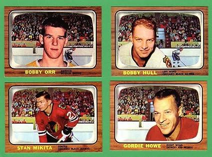 1966 Topps Hockey 4 Card Reprint Lot Including Bobby Orr
