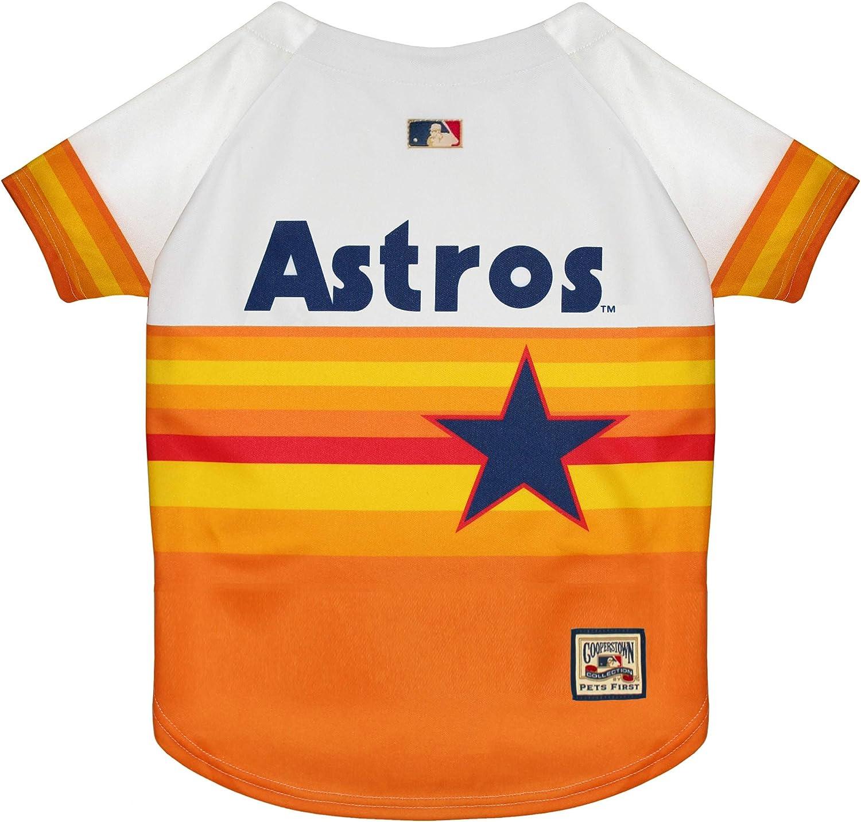 Pets First MLB Houston Astros AST-4000-XS Orange X-Small