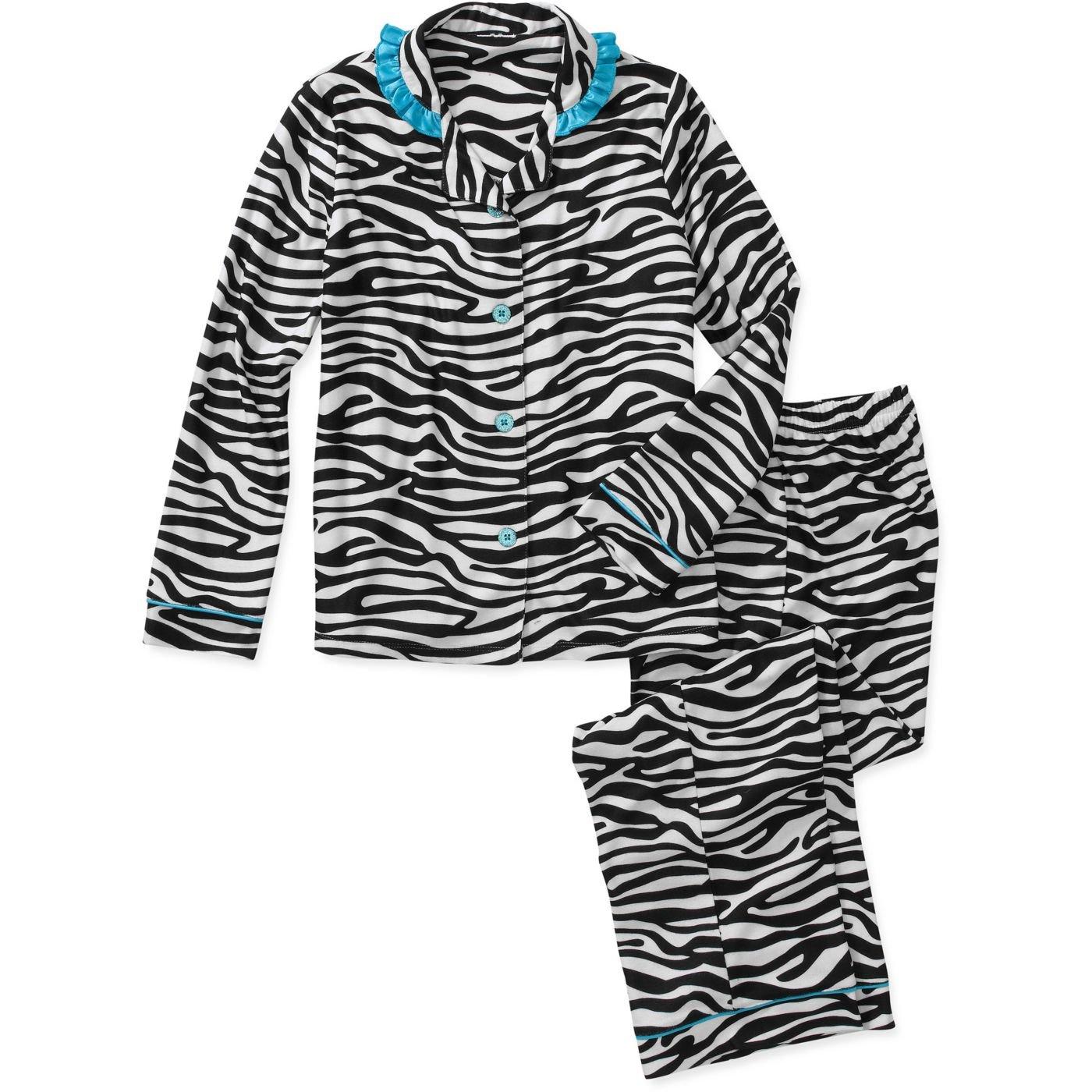 Komar Kids Big Girls Printed Coat Set (4/5, White)